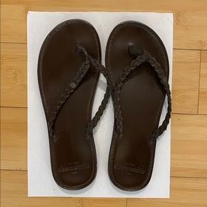 Abercrombie and Fitch Leather Flip Flops